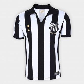 Imagem - Camisa Santos Bi Mundial Retrô 62/63 Masculina cód: PRD03604