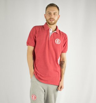 Imagem - Camisa Polo Mescla Vermelha Internacional cód: INTPL040504