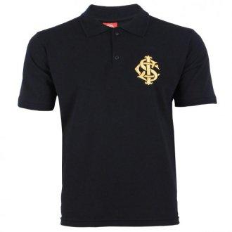 Imagem - Camisa Polo Preta Símbolo Dourado Retrô Internacional cód: INT449