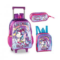 Imagem - Mochila Infantil Clio Kit Unicornio  - 107883