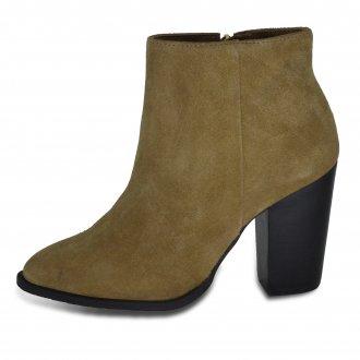Imagem - Ancle Boots Feminina Camurça Natural Julia 7609 Prune cód: 3807609PRUNE109
