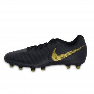 Imagem - Chuteira Masculina Campo Nike Ao2597-077 Legend fg Pto/dourado cód: 30AO2597-077LEGENDFG521