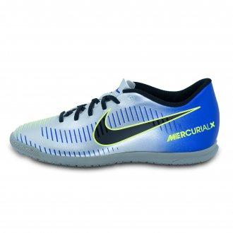 Imagem - Chuteira Masculina Futsal Nike 921518-407 Mercurial NeymarJr  Prata/az cód: 30921518-407MERCVNJ10000207