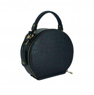 Imagem - Bolsa Disco Bag em Couro Viccina - 203140001