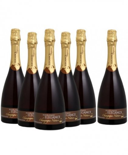 PACK Peterlongo Champagne Elegance Nature 750ml - (cx c/ 6und)