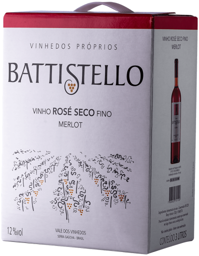 BATTISTELLO Bag in Box 3L Merlot Rose Seco
