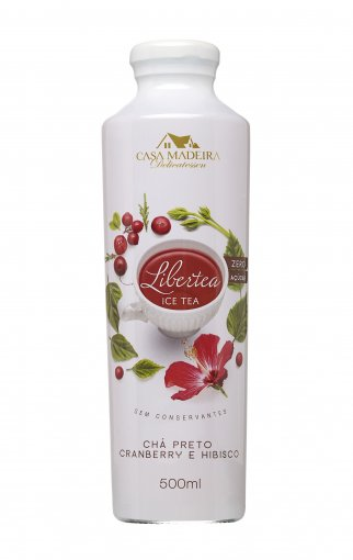 Libertea Ice Tea com com Cranberry e Hibisco Casa Madeira 500ml
