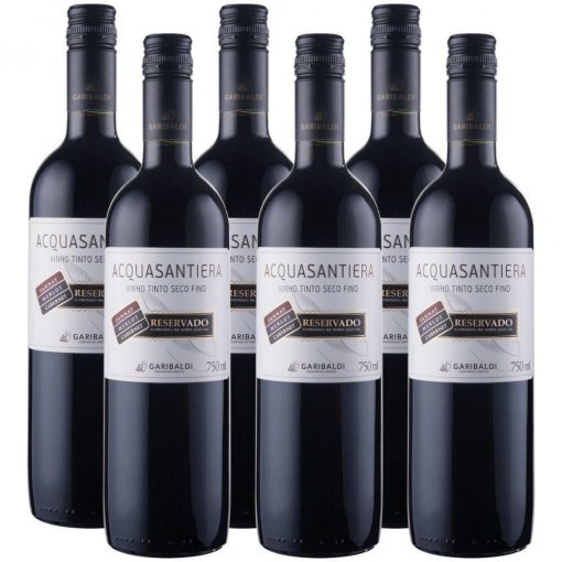 PACK Vinho Garibaldi Acquasantiera Reservado Seco Cabernet Sauv/ Merlot/ Tannat 750ml -( cx c/ 6und)