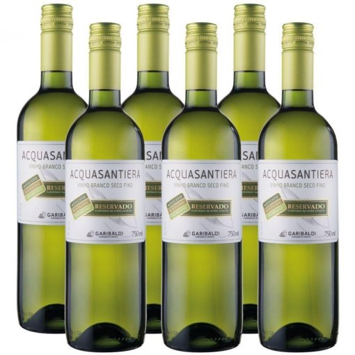 PACK Vinho Garibaldi Acquasantiera Riesling/Treb/Moscato 750ml -( cx c/ 6und)