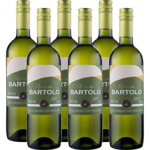PACK Vinho Garibaldi Di Bartolo Branco Seco 750ml -( cx c/ 6und)