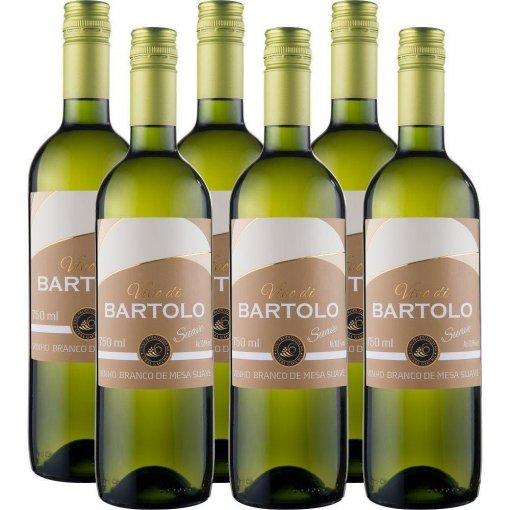 PACK Vinho Garibaldi Di Bartolo Branco SUAVE 750ml -( cx c/ 6und)