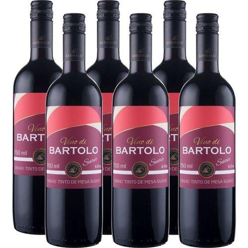 PACK Vinho Garibaldi Di Bartolo Tinto SUAVE 750ml -( cx c/ 6und)