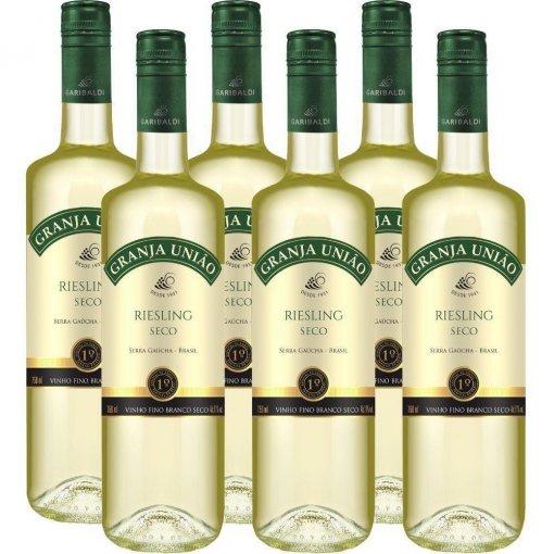 PACK Vinho Garibaldi Granja União Riesling 750ml - (cx c/ 6 und)