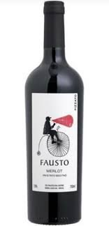 PACK Pizzato Fausto Merlot 750ml -(CX C/ 6UND)