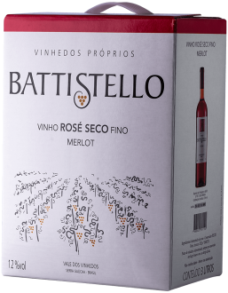 Imagem - BATTISTELLO Bag in Box 3L Merlot Rose Seco - BA013