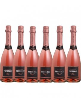 Imagem - PACK Peterlongo Espumante Presence Brut Rose 750ml - (cx c/ 6und) - PT606