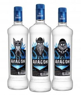 Imagem - PACK Salton Vodka Aragon 900ml - (cx c/ 6) - SA1582