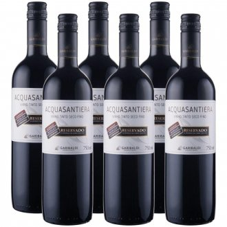 Imagem - PACK Vinho Garibaldi Acquasantiera Reservado Seco Cabernet Sauv/ Merlot/ Tannat 750ml -( cx c/ 6und) - VG50013