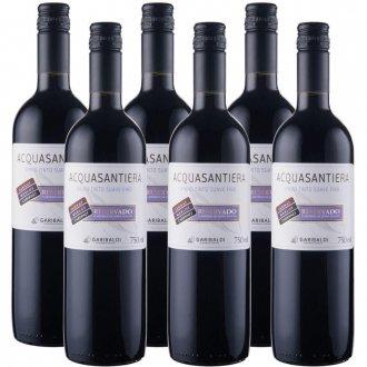 Imagem - PACK Vinho Garibaldi Acquasantiera Reservado SUAVE Cabernet Sauv/ Merlot/ Tannat 750ml -( cx c/ 6und) - VG50015