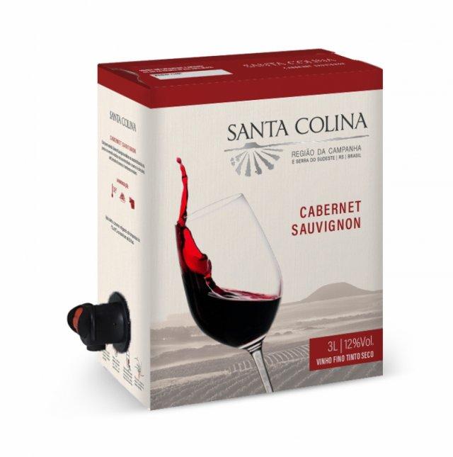 Vinho Santa Colina Cabernet Sauvignon Bag In Box 3L
