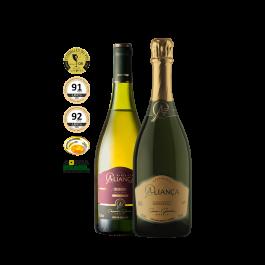 Imagem - Kit Vinho Aliança Chardonnay + Espumante Aliança Moscatel cód: 15102023