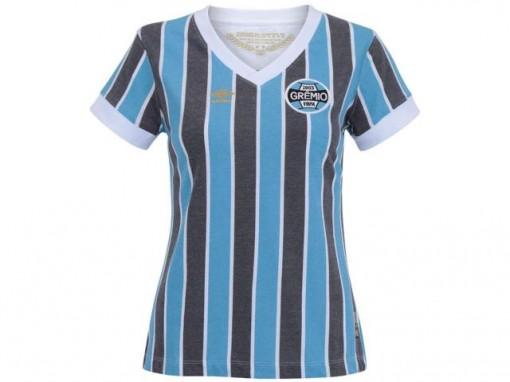 Camiseta Grêmio Tricolor Retro Feminina 3g00032 c1a62d936c4a1