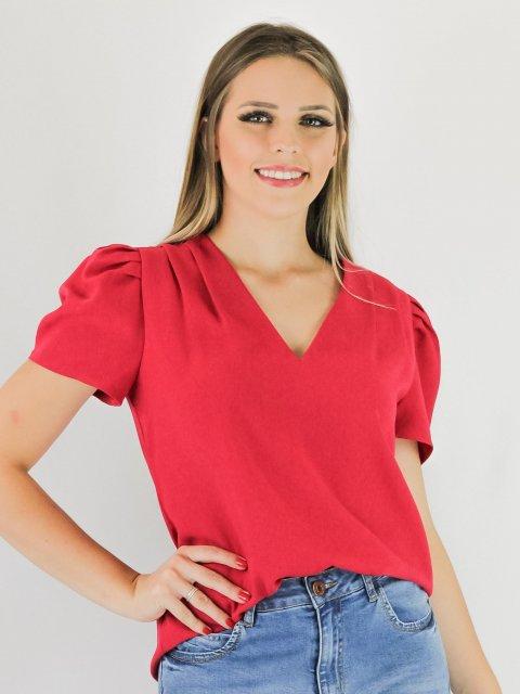 Blusa Pink Decote V