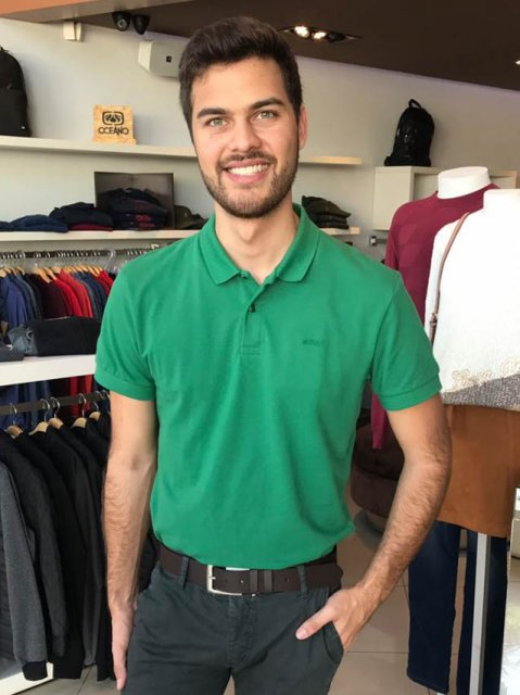 Camisa Polo Colcci Verde