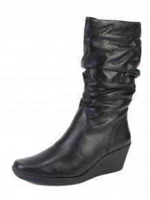 Bota Anabela Slouch Boots Bottero Toscana Couro