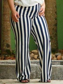 Imagem - Calça Pantalona Matuta Listrada