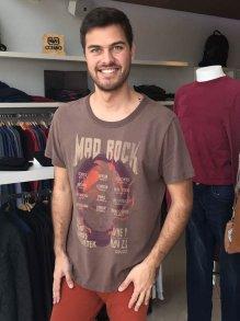 Camiseta Colcci Marrom