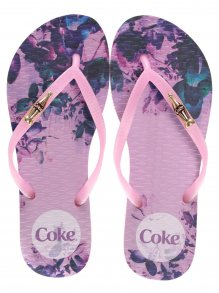 Chinelo Coca Cola Spot Flower