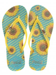 Chinelo Coca Cola Sunflowers