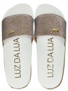 Chinelo Slide Luz da Lua Lurex