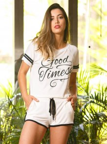 Conjunto Blusa + Short Groovy Forever