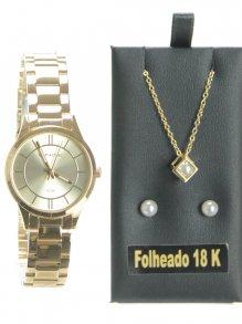 Imagem - Relógio Kit Lince Dourado
