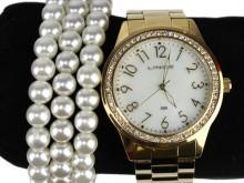 Relógio Lince LRG4375l Strass + Pulseiras