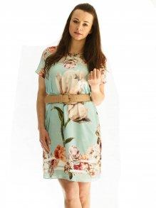 Vestido Manga Curta Lanca Perfume Floral