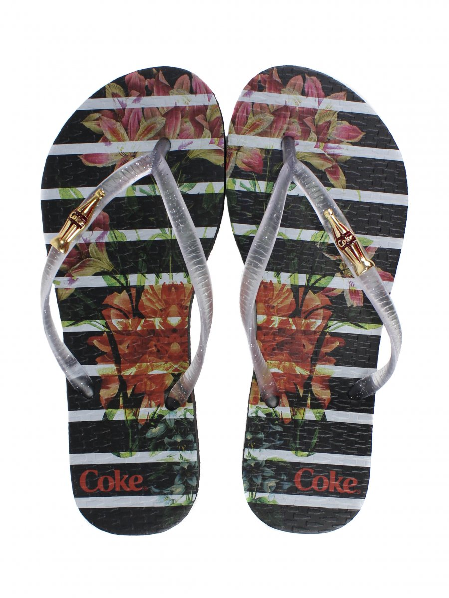 972475298 Chinelo Esportivo Coca Cola Bloom Stripers