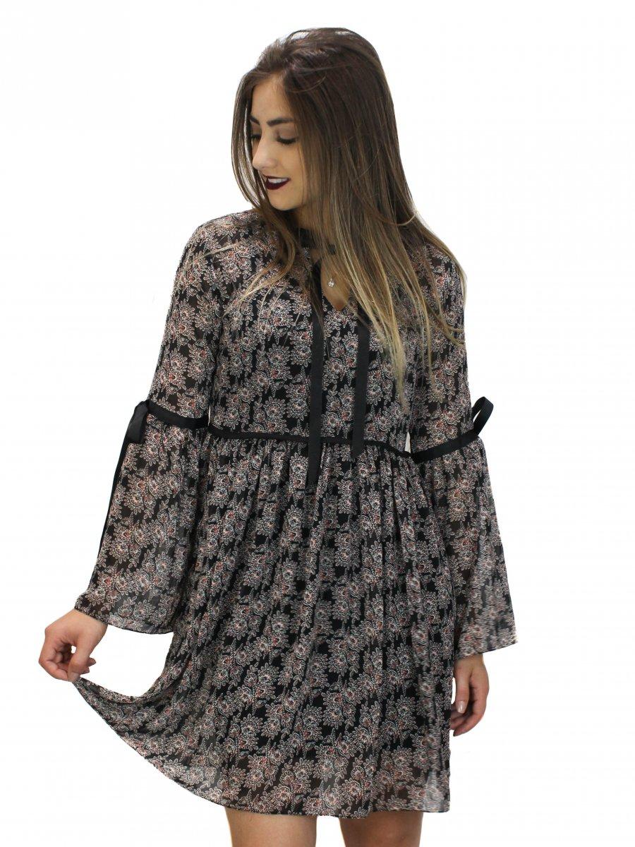 2d027f7cd Vestido Insp Floral Manga Longa | Vivere Store
