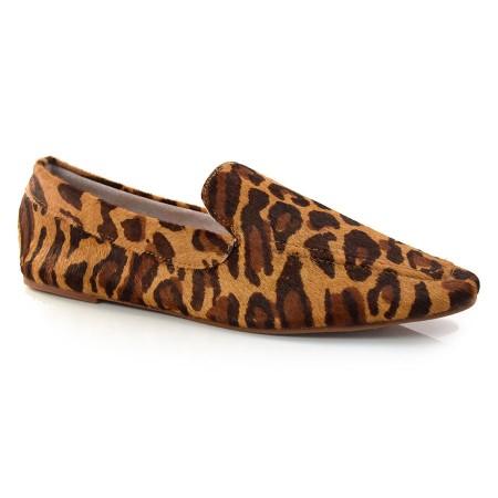 Loafer De Couro E Oncinha Suzzara