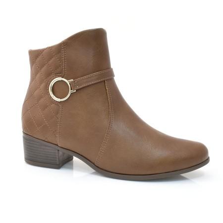 Ankle Boots De Salto Baixo Comfortflex