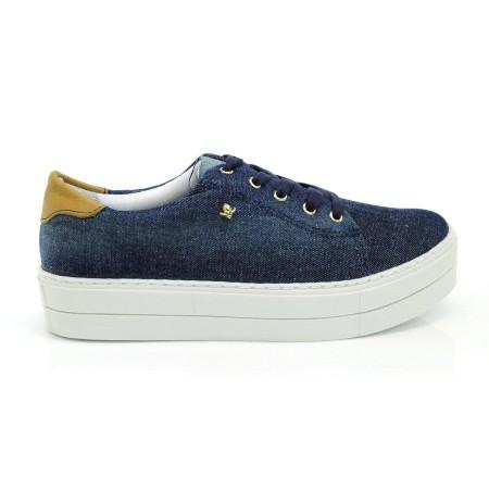 Tênis Flatform Jeans Cravo E Canela JEANS AZUL 1 Com o Melhor Preço na  Vizzent 0322a06c83857
