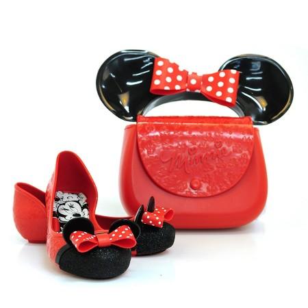 692ee589fe Sapatilha Infantil Disney Minnie VERMELHO PRETO 50924 Com o Melhor Preço na  Vizzent