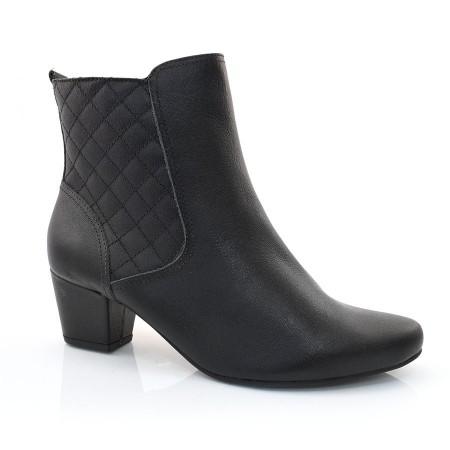 Ankle Boots Preto De Couro Usaflex
