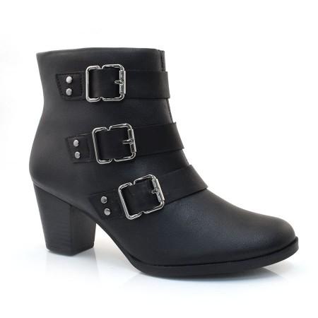 Ankle Boots De Salto Baixo Dakota