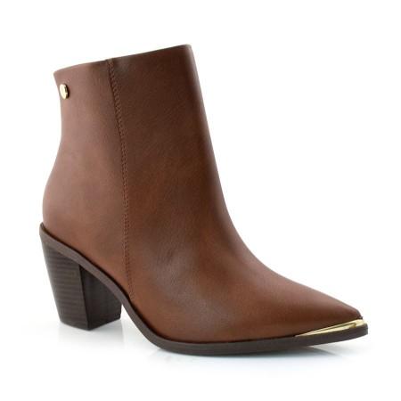 Ankle Boots De Salto Bloco Vizzano