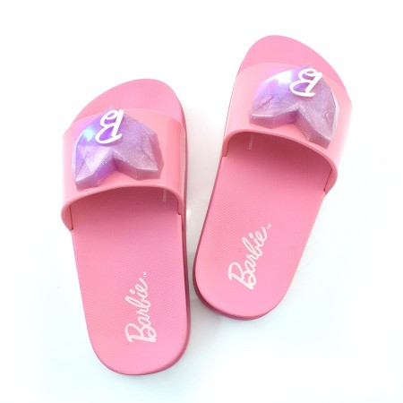 Chinelo Slide Infantil Barbie Love Com Led