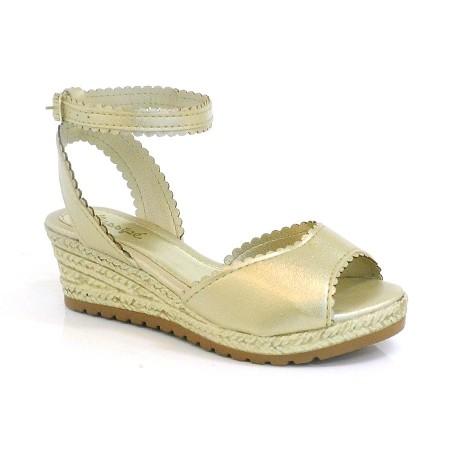 Sandália Dourada Anabela Infantil Klassipe