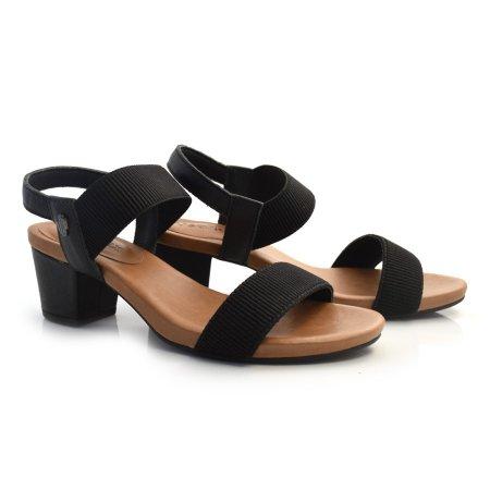 Sandália De Couro E Salto Baixo Usaflex